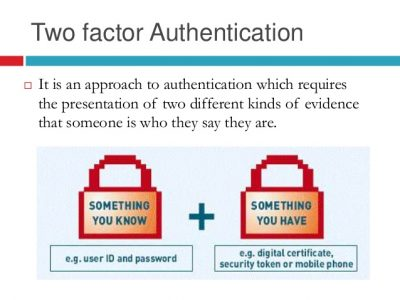 How two factor authentication works